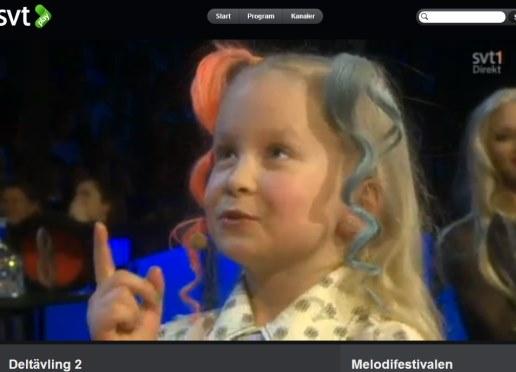 Sigrid, sju år, printscreen SVT Play