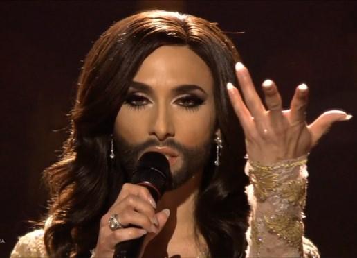 Österrikes Conchita, Foto: Skärmdump SVT-play