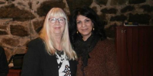 Pia Isaksson och Soheila Fors
