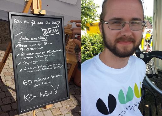 Hjalte Lagercrantz från PeaceWorks (Foto: Anny Berglin)