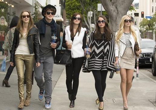 Taissa Farmiga, Israel Broussard, Emma Watson, Katie Chang, Claire Julien (Foto: Merrick Morton)