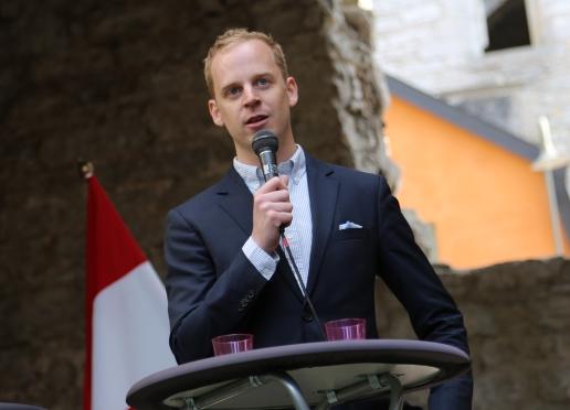 Gustav Kasselstrand, förbundsordförande Sverigedemokratisk Ungdom, Pressbild