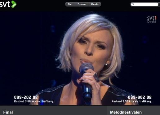 Sanna Nielsen, Foto: Printscreen SVT Play