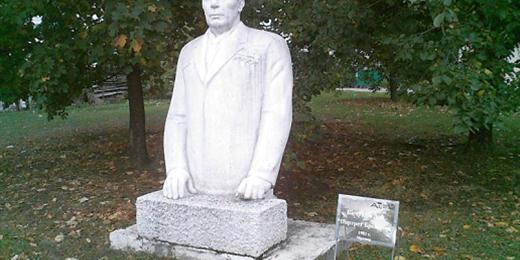 Staty föreställande Leonid Brezjnev (Foto: Public domain via Wikimedia Commons)
