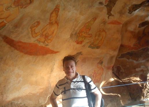 Världsarvet Sigiriya gamla målningar